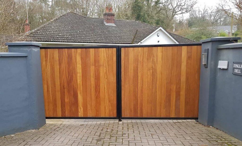 Residential gates wooden gates-20